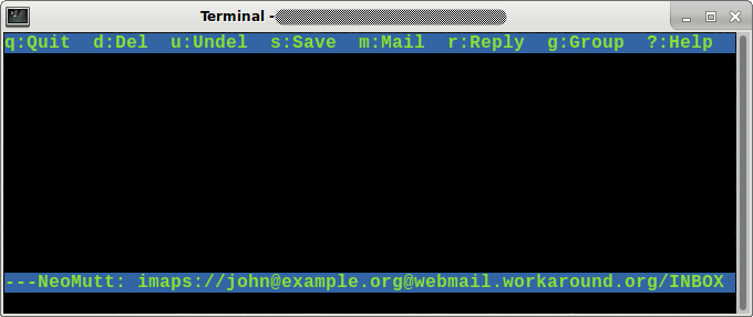 Testing IMAP and setting up Roundcube webmail – workaround org